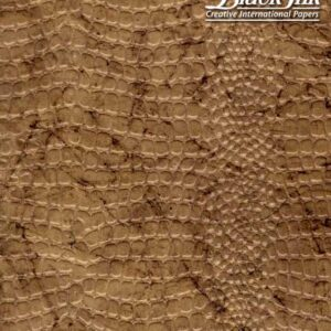 Black Ink Indian Embossed Papers Reptile ' Desert Gold 22 X 30 In