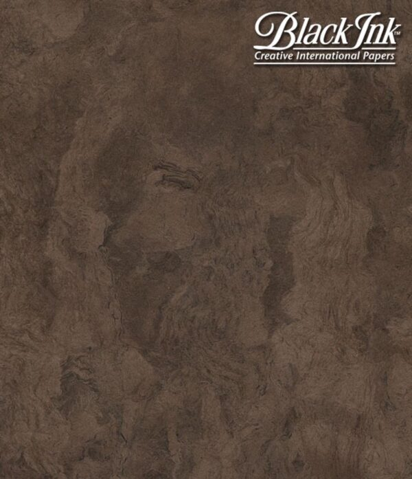 Black Ink Mexico Amate Bark - Brown 15.5 X 23.5 In