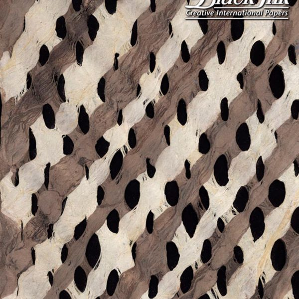 Black Ink Mexico Amate Bark Lace - Chocolate/Natural 15.5 X 23.5 In