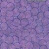 Black Ink Nepalese Screenprinted Lokta Spiral Gyro - Navy/Orchid 20 X 30 In