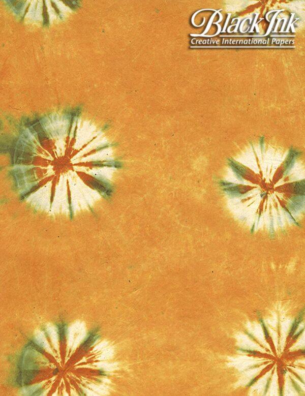 Black Ink Nepalese Tie Dye Loktas - Mango Orange 19 X 29 In