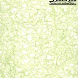 Black Ink Japanese Ogura Lace - Spring Green 21 X 31 In