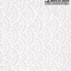 Black Ink Thai Lace Patterned Lace - White Seashell 25 X 37 In
