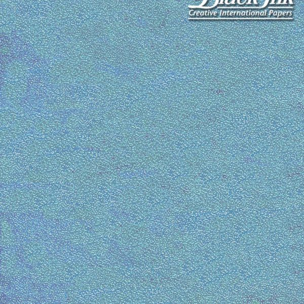 Black Ink Taiwan Dotty Embossed Iridescent - Ice Blue 19 X 27 In