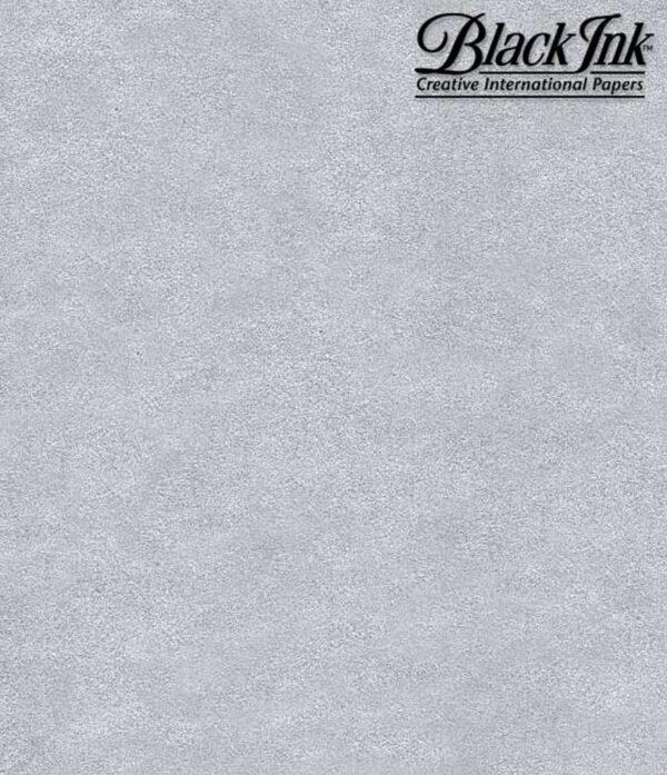 "Black Ink Thai Metallics Silver 25"" X 37"""