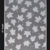 Black Ink Thai Sheer Silhouettes Maple Leaves 25 x 37 in