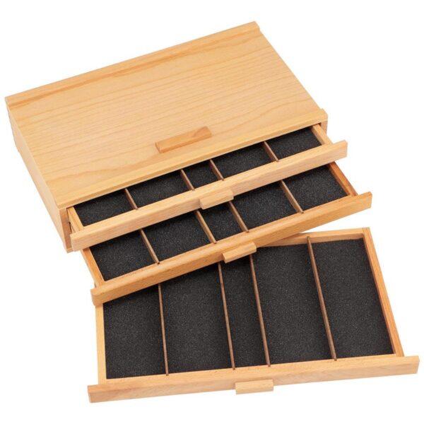 Creative Mark 3 Piece Wood Art Storage Box Angled