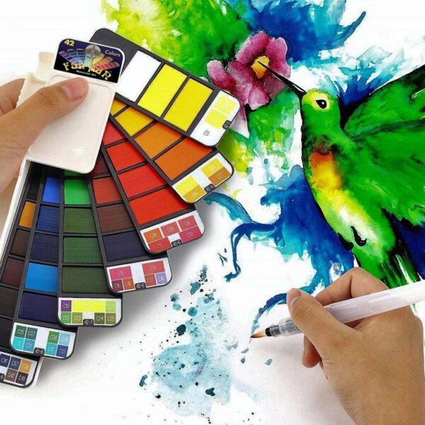 Creative Mark Fan Pan Watercolor Set 42 Demo
