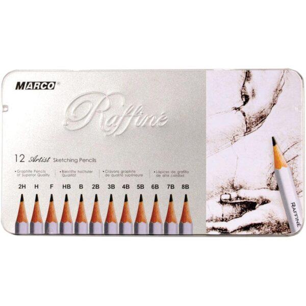 Creative Mark Raffine Graphite Pencil Tin 12 Pc