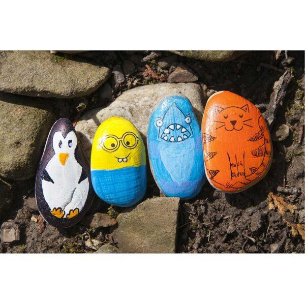 Creativity for Kids Hide and Seek Rock Painting Demo