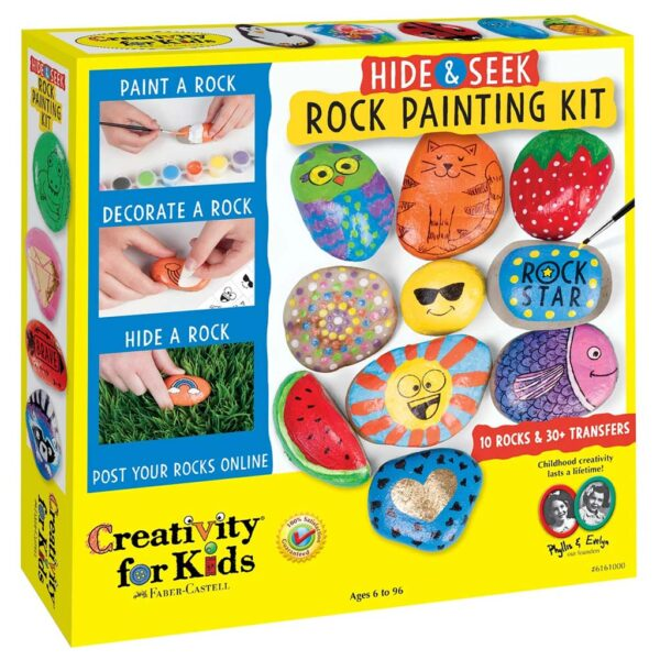 Creativity for Kids Hide and Seek Rock Painting Front