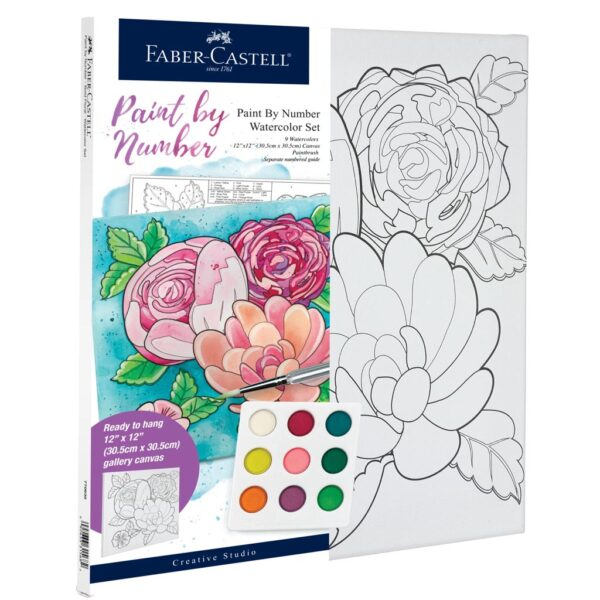 Faber Castell Paint by Number Floral