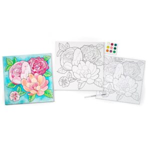 Faber Castell Paint by Number Floral Content