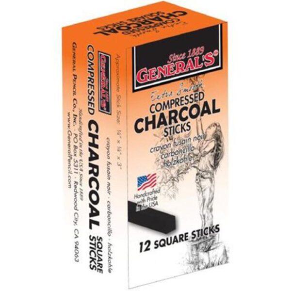 Generals Compressed Charcoal Black 12 Pk