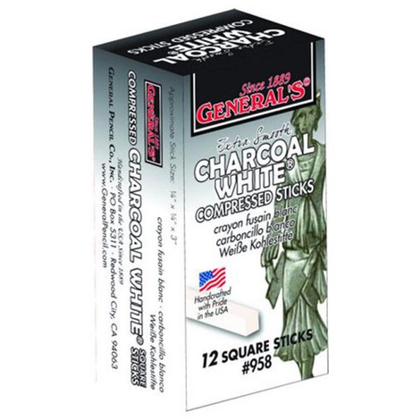 Generals Compressed Charcoal White 12 Pk
