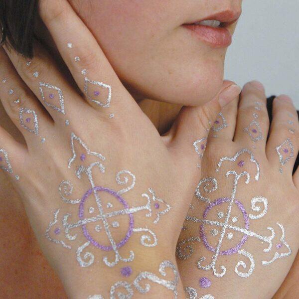 Jacquard Body Art Glitter Demo
