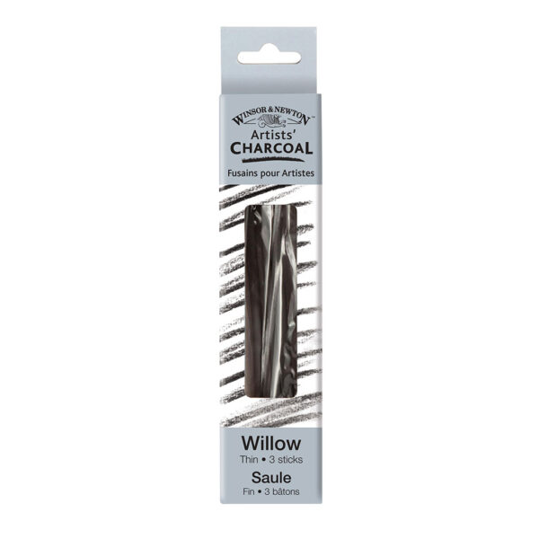 Winsor and Newton Willow Charcoal Thin Sticks 3 Pk