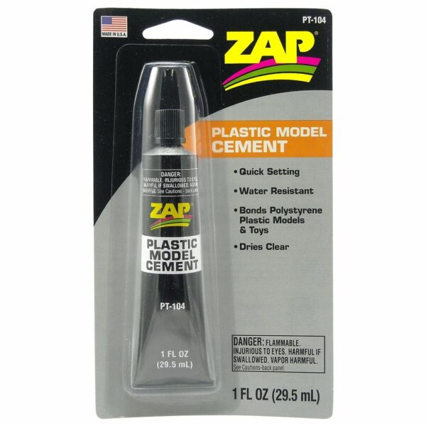 Zap Pt-104 Plastic Model Cement 1 Oz