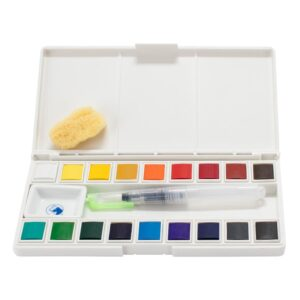 Maries Watercolor Pan Set of 18 Open