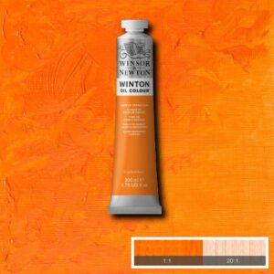 Winsor and Newton Winton Oil PaInts - Cadmium Orange Hue 200 ml (6.7 OZ)