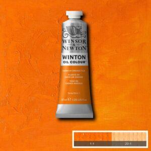 Winsor and Newton Winton Oil PaInts - Cadmium Orange Hue 37 ml (1.25 OZ)