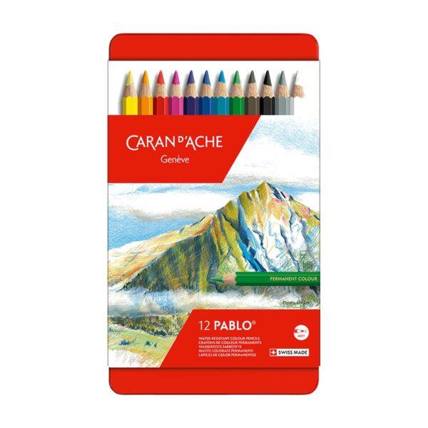 Caran D Ache Pablo Pencil Set of 12 Closed