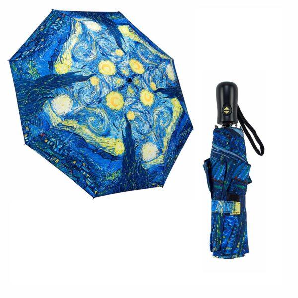 Galleria Umbrellas Van Gogh Starry Night - Folding