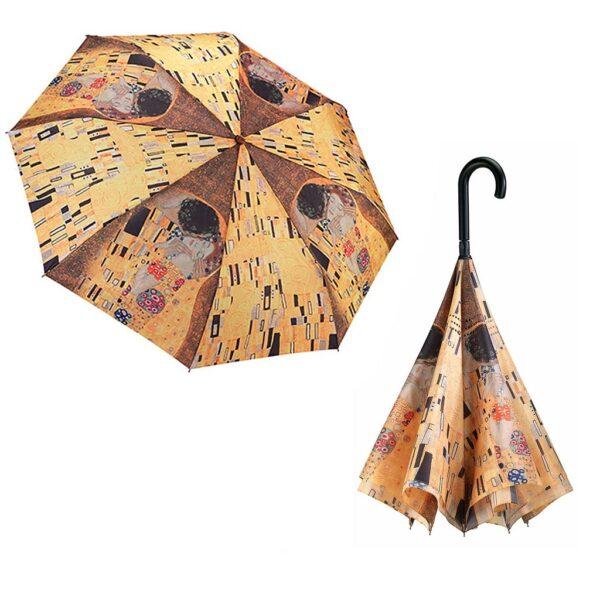 Galleria Umbrellas Gustav Klimt The Kiss - Reverse Close