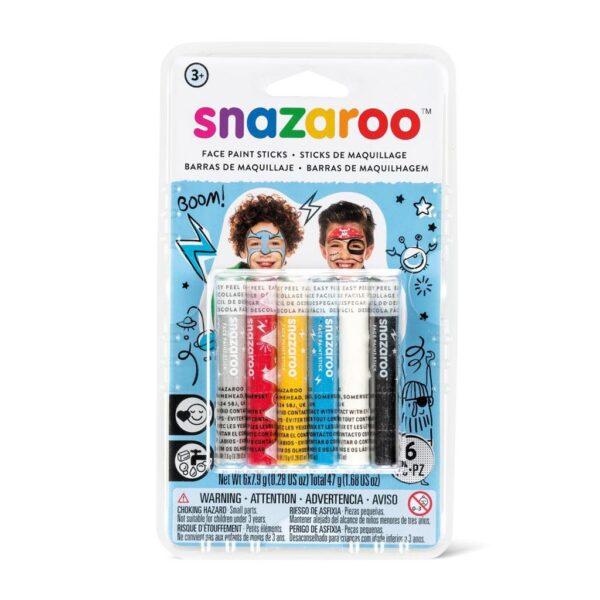Snazaroo Face Paint Stick Sets - Adventure 6pc
