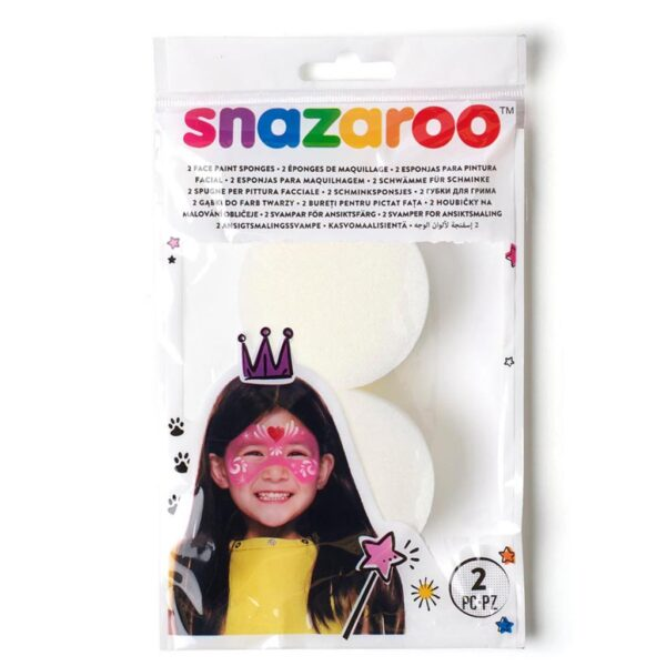 Snazaroo Hi-Density Sponge Pack of 2