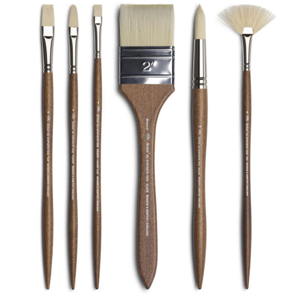 Winsor and Newton Artists Oil Synthetic Hog Brushes